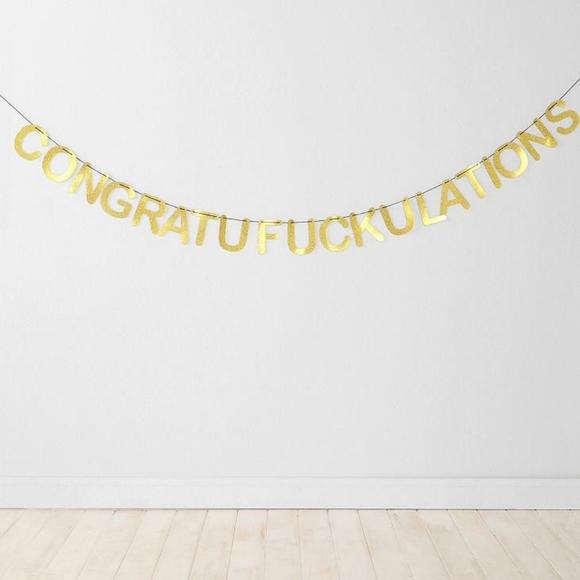 Urban Outfitters Other - Congratufuckulations party banner
